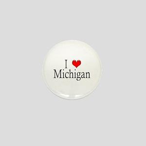 I Heart Michigan Mini Button