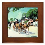 Stagecoach by RD Riccoboni Framed Tile