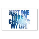 Just One Touch - Sticker (Rectangle 50 pk)