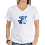 Just One Touch - Women's V-Neck T-Shirt