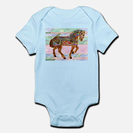 Armoured Carousel Horse Infant Creeper