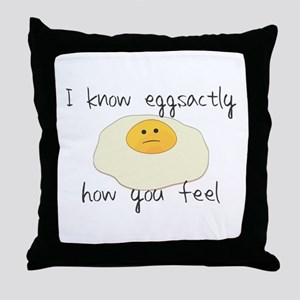 Eggsactly How You Feel Throw Pillow