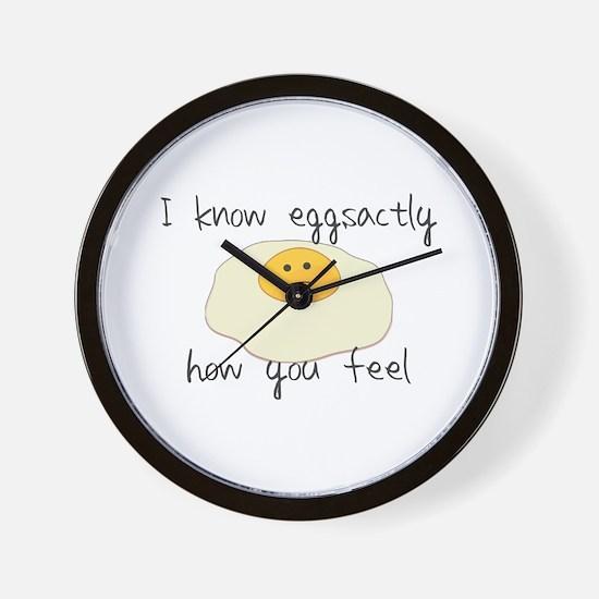 Eggsactly How You Feel Wall Clock