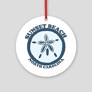 Sunset Beach NC - Sand Dollar Design Ornament (Rou