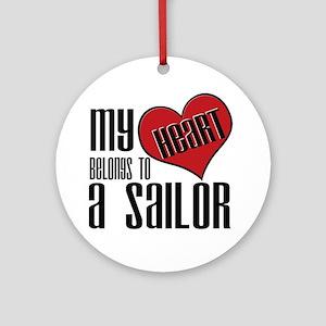 Heart Belongs Sailor Ornament (Round)