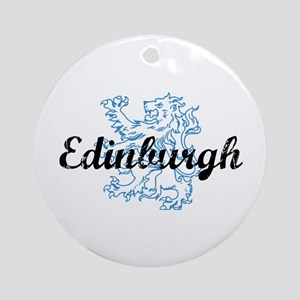 Edinburgh Scotland Ornament (Round)