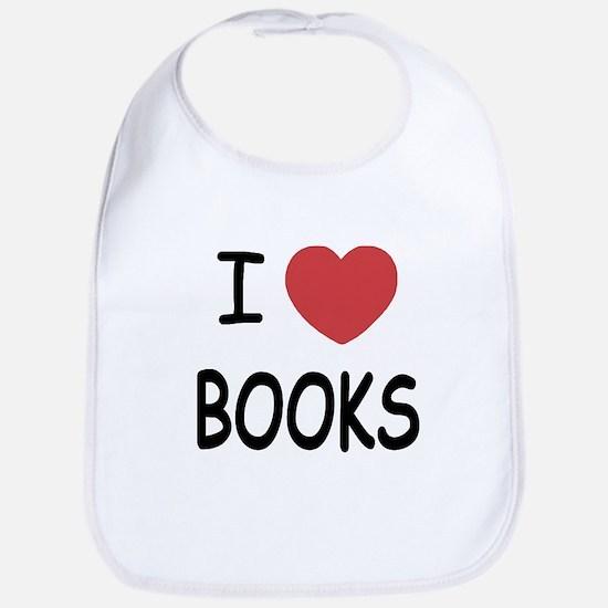I heart books Bib