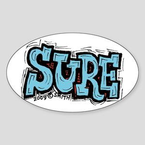 Sure Sticker (Oval)