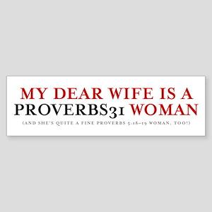 Proberbs 31 Sticker (Bumper)