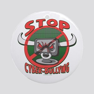 Stop Cyberbullying Ornament (Round)