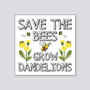 Save The Bees Grow Dandelions Sticker