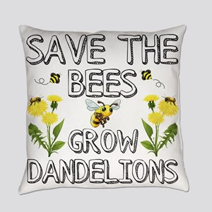 Save The Bees Grow Dandelions Everyday Pillow