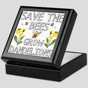 Save The Bees Grow Dandelions Keepsake Box