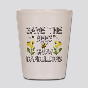 Save The Bees Grow Dandelions Shot Glass