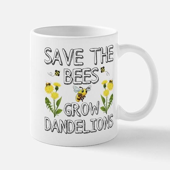 Save The Bees Grow Dandelions Mugs