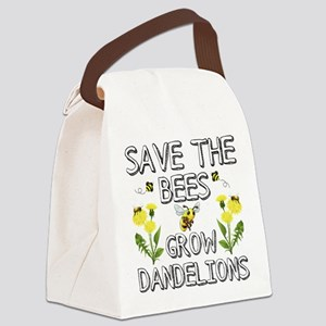 Save The Bees Grow Dandelions Canvas Lunch Bag