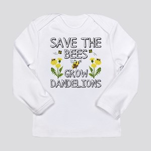 Save The Bees Grow Dandelions Long Sleeve T-Shirt