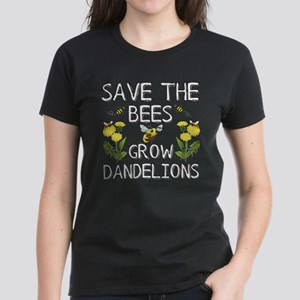 8cec55d4be470 Save The Bees Grow Dandelions T-Shirt