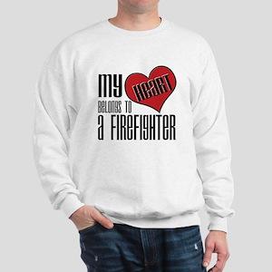 Heart Belongs Firefighter Sweatshirt