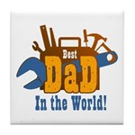 Tools Best Dad Tile Coaster