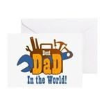Tools Best Dad Greeting Card