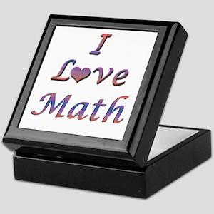 I Love Math Keepsake Box