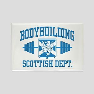 Scottish Bodybuilding Rectangle Magnet
