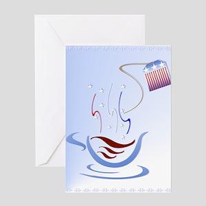 All American Tea Cup Greeting Card