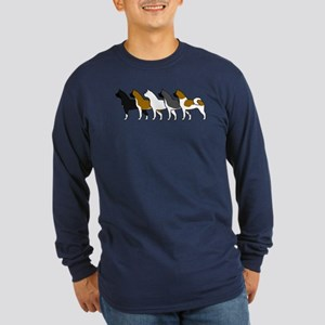Group O' Akitas Long Sleeve Dark T-Shirt