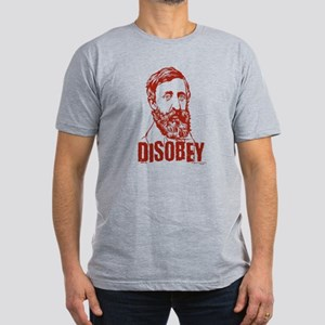 Thoreau Disobey Men's Fitted T-Shirt (dark)