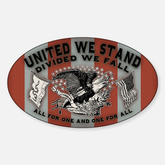 United We Stand Sticker (Oval)
