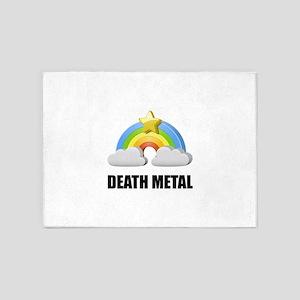 Death Metal Rainbow 5'x7'Area Rug