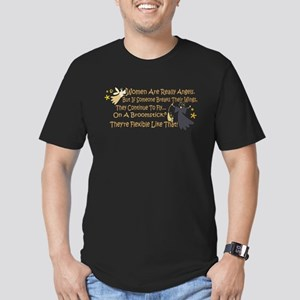 Women Are Like Angels Men's Fitted T-Shirt (dark)