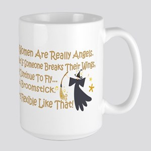 Women Are Like Angels Large Mug