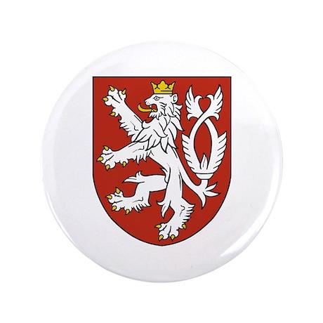 "Bohemia Coat of Arms 3.5"" Button"