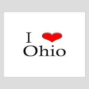 I Heart Ohio Small Poster