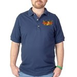 Infinite Funds Crown Link Dark Polo Shirt