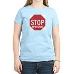 STOP SNITCHING - Women's Pink T-Shirt