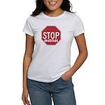 STOP SNITCHING - Women's White T-Shirt