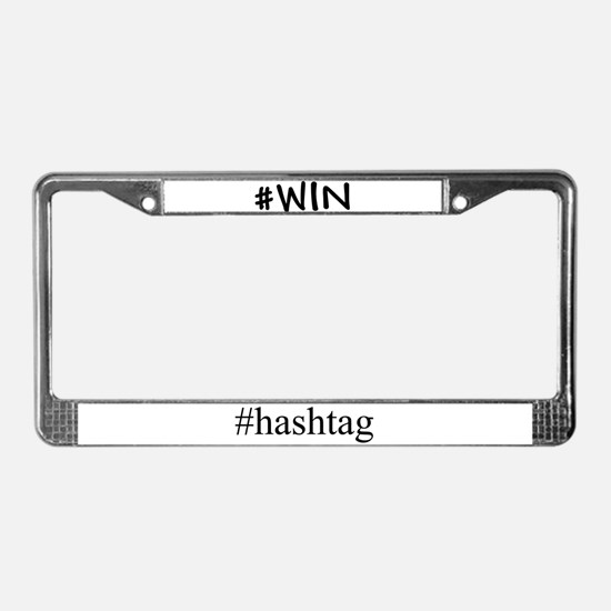 #WIN License Plate Frame