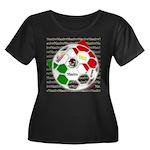 Futbol Mexicano Women's Plus Size Scoop Neck Dark
