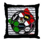 Futbol Mexicano Throw Pillow