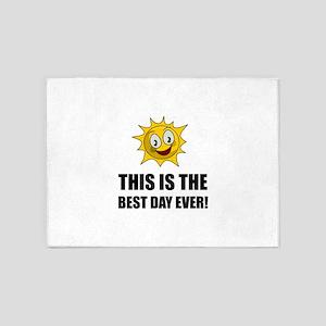 Best Day Ever Sunshine 5'x7'Area Rug