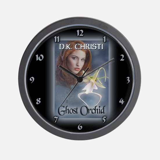 Cute Ghost orchid Wall Clock