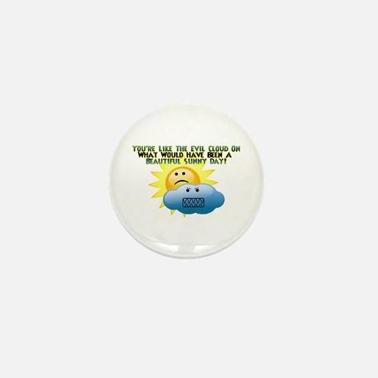 Evil Cloud Mini Button