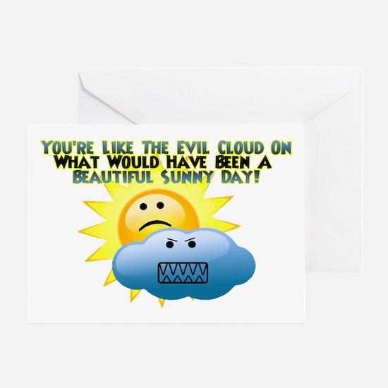 Evil Cloud Greeting Card