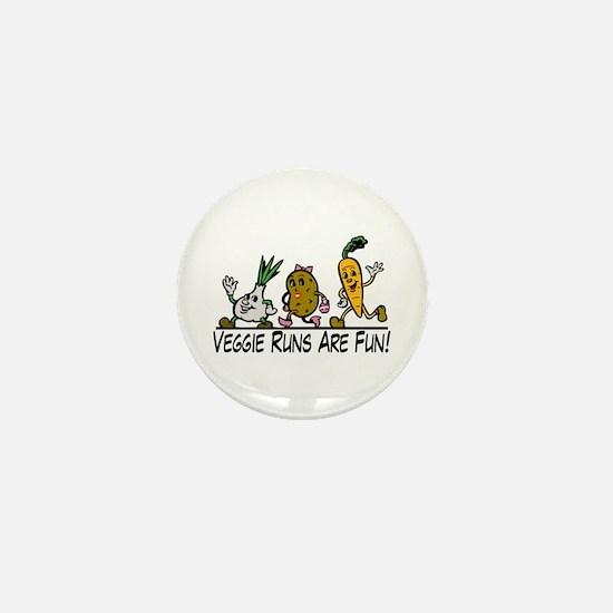 Veggie Runs Mini Button
