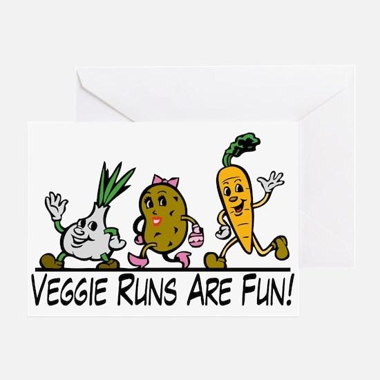 Veggie Runs Greeting Card