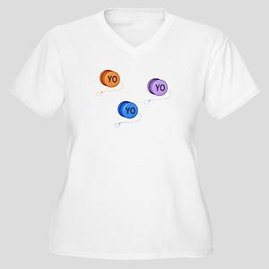 Yo Yo Yo Women's Plus Size V-Neck T-Shirt