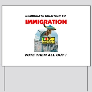 ILLEGAL VOTERS Yard Sign